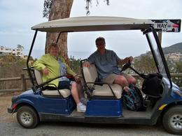 Photo of Anaheim & Buena Park Catalina Island Day Trip Ron and Mom on the golf cart