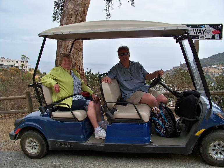 Ron and Mom on the golf cart - Anaheim & Buena Park
