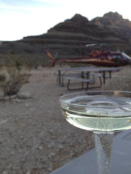 Photo of Las Vegas Grand Canyon West Rim Deluxe Sunset Helicopter Tour The sparkling wine was yummy