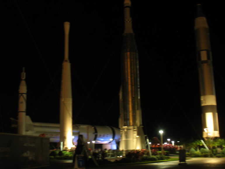 The Rocket Garden at night