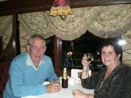 Photo of Melbourne Colonial Tramcar Restaurant Tour of Melbourne Enjoying a champagne