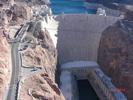 Hoover Dam from the bridge view. , Jennifer G - March 2014