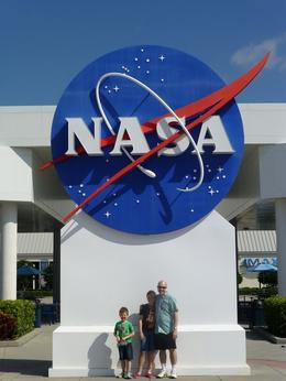 The family in front of the iconic symbol. A great day checking out the space stuff. , Rachel M - October 2012
