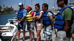 Come to the San Diego Speed Boat Tour prepared to get splashed! - July 2011
