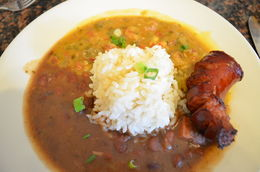 followed by Shrimp Etoufee with red beans and rice., World Traveler - October 2014