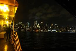 A view from the deck of the yacht Duchess as the New York night-time skyline rolls past. , Steve H - October 2014