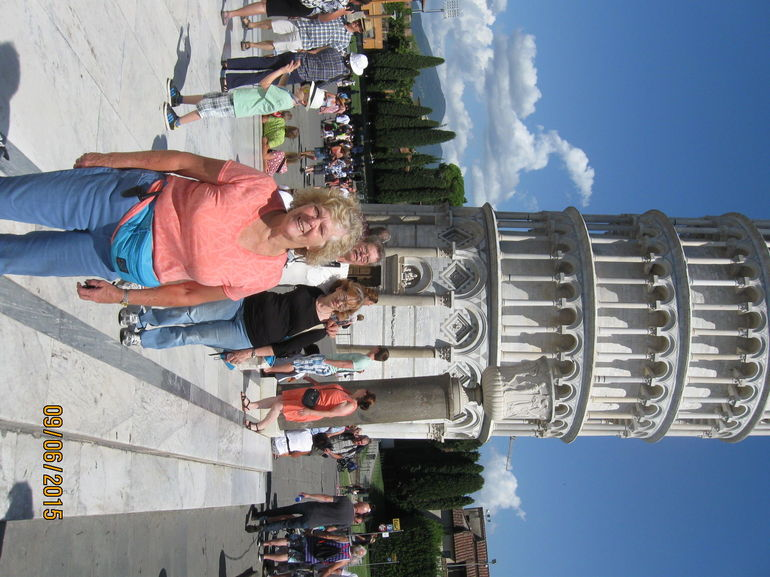 Me in front of The Leaning Tower of Pisa