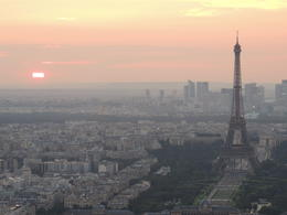 Photo of Paris Montparnasse Tower 56th Floor Observation Deck Paris at sunset from Montparnasse Tower