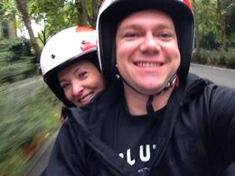 Photo of Florence Florence Vespa Tour: Tuscan Hills and Italian Cuisine Selfie of us cruising through the Tuscan hills