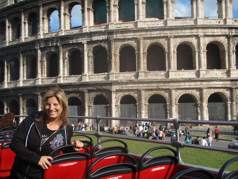 Taken from the Hop on Hop off bus booked with Viator as well - Rome