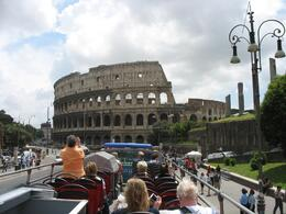 This Colosseum picture was taken from the top of the double decker bus!, JEANNETTE S - June 2008