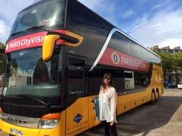 My daughter, Heather, by tour bus. , Ann Christine - July 2014