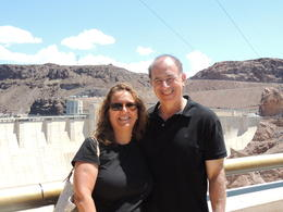 Photo of Las Vegas Hoover Dam Top to Bottom by Luxury SUV with Colorado River Float walking on top
