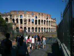 Photo of Rome Ancient Rome Half-Day Walking Tour Walking to the Colosseum