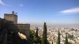 Alhambra over Granada , REGINALD R - November 2014
