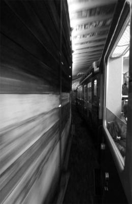 Dashing through the tunnel towards Grindelwald. , Victor C - June 2013