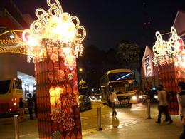 Chinese new year street decorations in Clarke Quay , Julie c B - March 2011