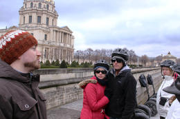 Simon our tour guide holds the floor at Napoleon's tomb. We were shivering but interested. , Steve S - March 2011
