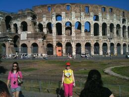 Here's Naomi in front of the Colosseum, Montaz A - September 2010