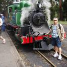 Photo of Melbourne Puffing Billy Steam Train, Yarra Valley and Healesville Wildlife Sanctuary Day Tour Man versus Train.
