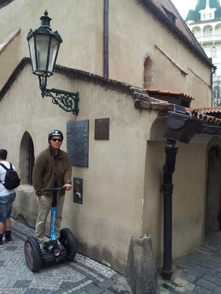 Outside of the Prague Synagogue. - Prague