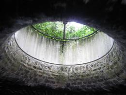 In the tunnel, looking up at the streets of Paris. - August 2009