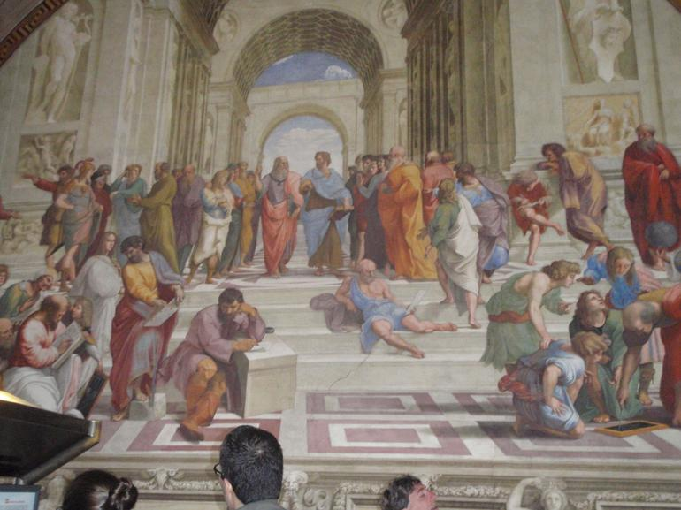 Photo of one of Raphaels paintings - Rome