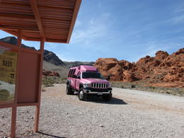 Photo of Las Vegas Valley of Fire Luxury Tour Trekker Excursion Pink Jeep in Las Vegas