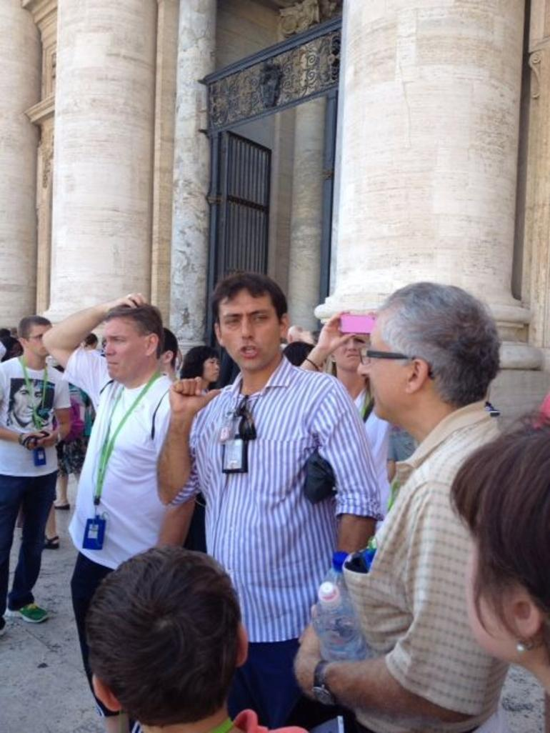 This is a picture of our guide!! - Rome
