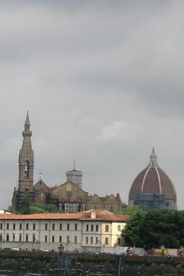 Photo of Florence Florence City Hop-on Hop-off Tour View from Bus with Duomo Bell Tower