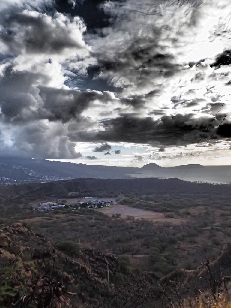 View from Diamond Head Crater - Oahu