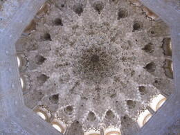 Part of the Alhambra, in the sultana's palace. Goes up to form a cone, amazing detail. , Ed - June 2011
