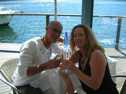 Photo of Sydney Lunch at Cottage Point Inn by Seaplane from Sydney Colin & Janice - cheers with Champagne