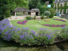 Another photo of the village of Bibury...beautiful gardens and waterways. , Jessica - July 2011