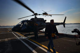 At the helipad - January 2013