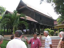 Exploring KL with a local: Old style removable house at the National Museum - July 2011