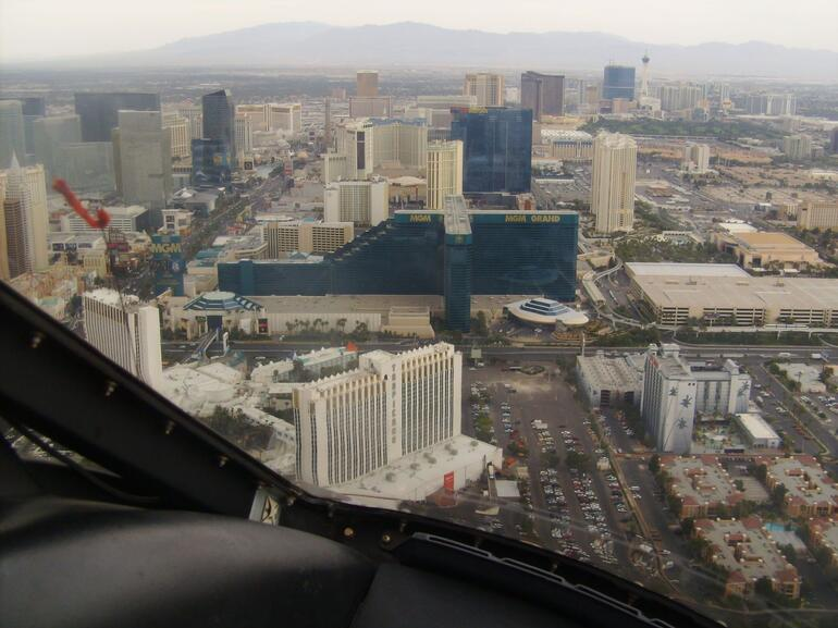 flying past our Hotel - Las Vegas