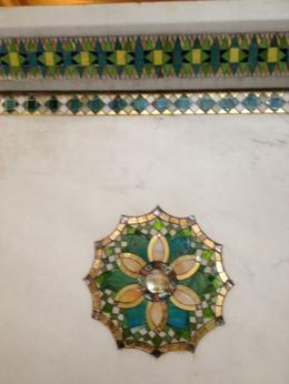 Photo of Chicago Chicago Walking Tour: Tiffany Art Glass Landmarks Gorgeous tile at Chicago Cultural Center