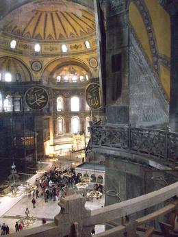 Inside the great basilica on a rainy afternoon in Istanbul on May 9th 2014. , librazone - May 2014