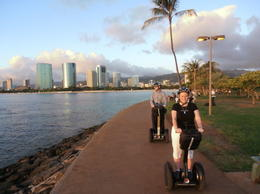 Photo of Oahu Sunset on the Beach Segway Tour Honolulu Sunset