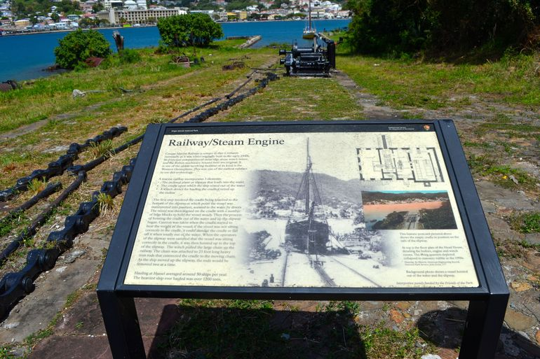 Another great stop on Hassel Island is to see a very old Marine Railway