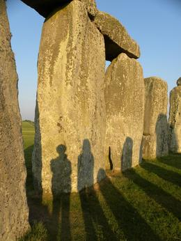 Sisters' shadows on the stones!, Kristin S - June 2010