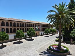 Beautiful plaza with the Ayuntamiento Town Hall, the Iglesia de Santa María la Mayor, the Convents of Charity Caridad and the Claristas the poor Clares, each with their own private chapel, and ... , Lizette G - August 2015