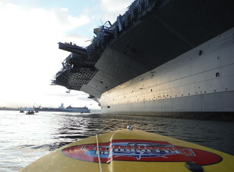 When can you get this close to a Navy Aircraft Carrier by water?