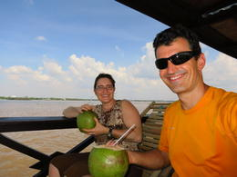 While cruising on the Mekong River, Patricia P - December 2011