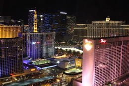 Photo of Las Vegas The High Roller at The LINQ The Bellagio Fountains were going!