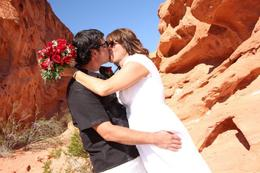 Photo of Las Vegas Valley of Fire Wedding by Private Limousine Valley of Fire photo 1 Stacie  and  Marc