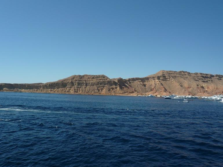 View from boat at main land - Sharm el Sheikh