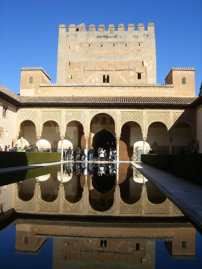 A courtyard in Alhambra