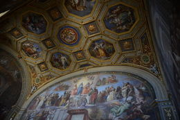 This photo shows the artwork directly above the mural of Constantine's proclamation. , EhViator - September 2015